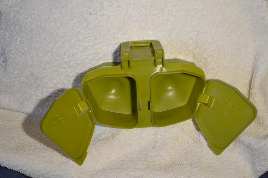 Syöttirasia vihreä kaksiosainen